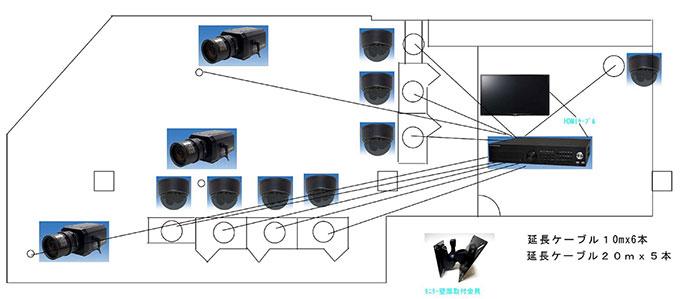 神戸西区アイエヌエス防犯カメラ設置サービス施工事例その2